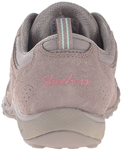 Skechers Breathe Easy Good Luck, Baskets Basses Femme Gris