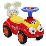 Rutscher, Kinderauto Mini Toycar mit Rückenlehne, Musik- und Lichtfunktion (Rot)