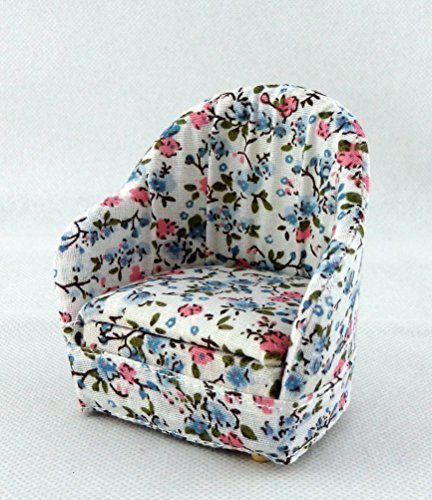 Preisvergleich Produktbild Melody Jane Puppenhaus Miniatur Loungemöbel 1:12 Maßstab Bequem Chintz Sessel Sessel