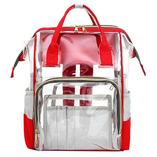 LSAltd Mumienbeutel Windelflaschenbeutel Transparenter Babybeutel Reiserucksack Pflegetasche