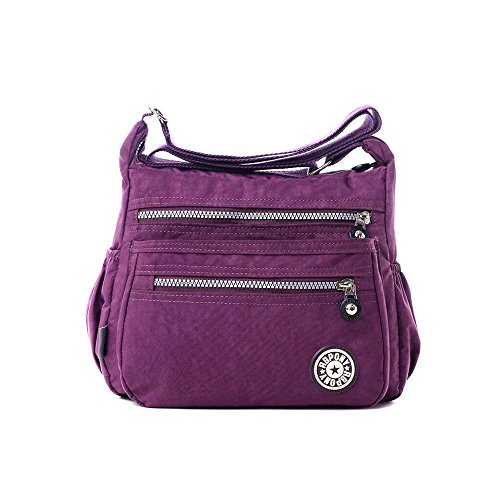womens-casual-multi-pocket-nylon-messenger-bags-cross-body-shoulder-bag-travel-purse-purple