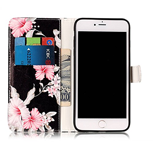 EKINHUI Case Cover Für Apple IPhone 7 Plus Horizontale Flip Case Cover Luxus Blume / Marmor Textur Premium PU Leder Brieftasche Fall mit Magnetverschluss & Halter & Card Cash Slots ( Color : B ) G