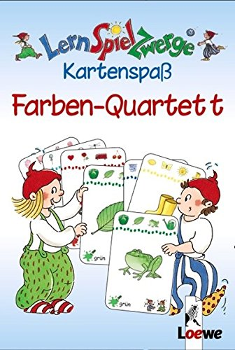 LernSpielZwerge Kartenspaß: Farben-Quartett (48 Spielkarten)