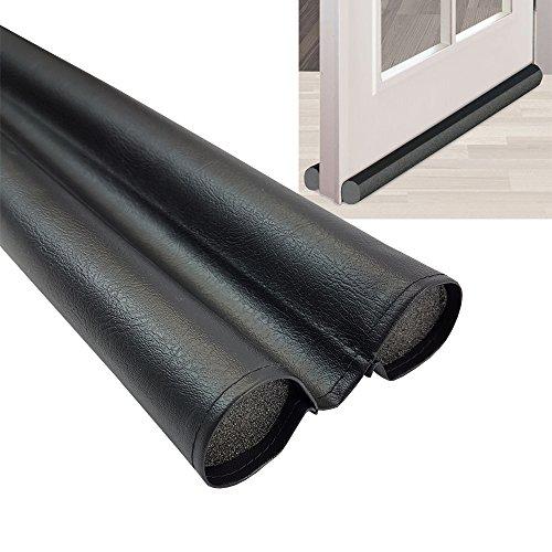 proheim Türbodendichtung Duo 95 cm Zugluftstopper individuell kürzbarer Windstopper aus flexiblem PVC Türdichtung gegen Kälte, Insekten und Lärm, Menge:Einzeln