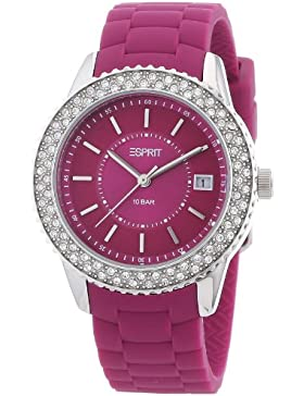 Esprit Damen-Armbanduhr marin glints Analog Quarz Silikon ES106212006
