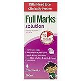 Solución completa de marcas – solución de piojos con peine