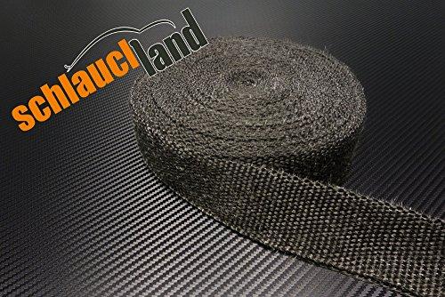 20m Hitzeschutzband 50mm schwarz SCHLAUCHLAND*** Auspuffband Thermoband Krümmerband Heat Wrap Basaltfaser Isolierband
