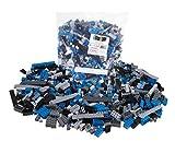 Strictly Briks - set di mattoncini da 672 pezzi in nero, blu, grigio e antracite - tema spaziale - compatibile con tutte le principali marche