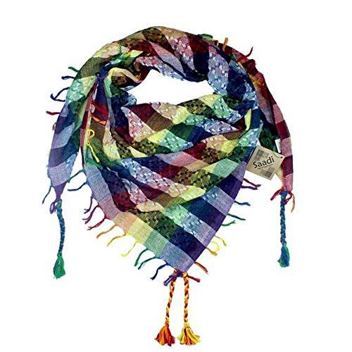Tahrir Schal aus 100% Baumwolle, Keffiyeh für Damen und Herren, in 3 Größen und vielen Farben erhältlich - mehrfarbig - Voll (Regenbogen-farbigen Tischdecken)