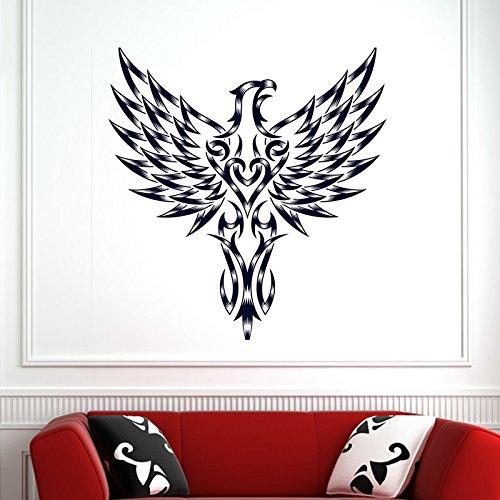loween Hawk Aufkleber Punk Tod Aufkleber Teufel Poster Name Autofenster Kunst Wandtattoos Dekor Wandbild 58X61 Cm ()