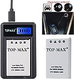TOP-MAX® EN-EL5 Rechargeable Li-ion Battery + USB Charger (LED Screen) for Nikon Coolpix 3700 4200 5200 5900 7900 P3 P4 P80 P90 P100 P500 P510 P520 P530 P5000 P5100 P6000 S10 Digital Cameras