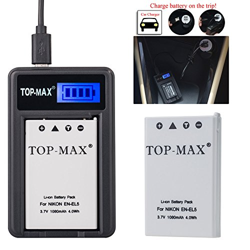 top-maxr-en-el5-rechargeable-li-ion-battery-usb-charger-led-screen-for-nikon-coolpix-3700-4200-5200-