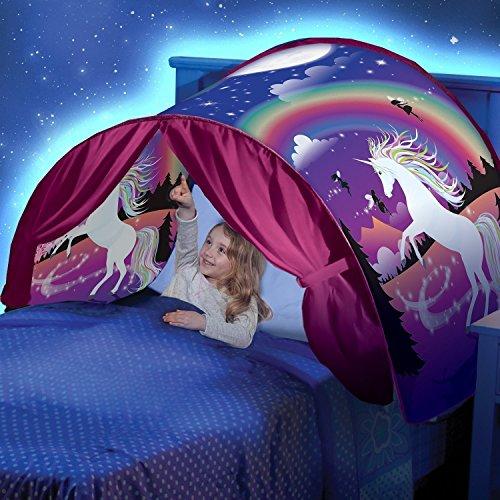 CAIGOGOO Dream Tents Magical World Tiendas de ensueño nuevas carpas de ensueño populares para los niños para cama infantil dormitorio juguete (unicornio)