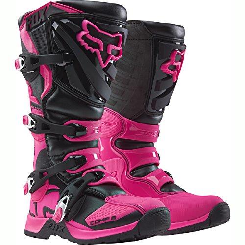 FOX 2016 Motocross/ Enduro Stiefel COMP 5 Frauen - schwarz-pink: Größe Stiefel: 40 EU / 8 US