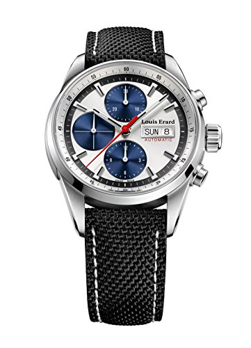 Louis Erard Héritage Sport Automatik Uhr, Silber, Chrongraph, 78104AA11.BTD10