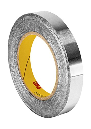 TapeCase 427 Aluminium-Klebeband, 4,6 cm x 60 m, glänzendes, silbernes Aluminium/Acryl-Klebeband, ausgekleidetes Aluminiumfolienband, umgewandelt von 3M 427, 65-300 Grad F Leistungstemperatur