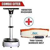 #4: TELEBrands-HBN VIBRATION BODY MASSAGER Silver Combo offer with Toning Motion Twin Single Motor Massage Belt