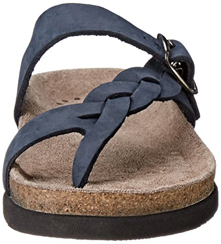 Mephisto Womens Helen Twist Nubuck Sandals Navy