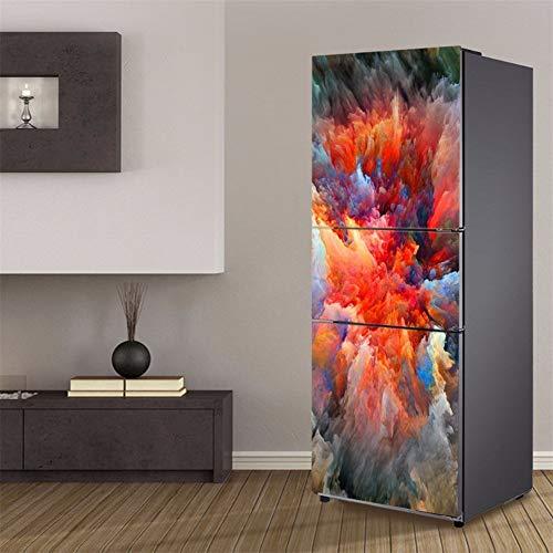 LXJ-LD 3D Kühlschrank Tapete Aufkleber Kühlschranktür Abdeckungen Kühlschrank Wandtattoo Kühlschrank Aufkleber Wandtattoo Für Kühlschrank,60 * 180cm