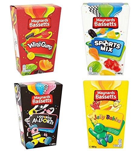 Maynards Bassetts Süßigkeiten 4 Boxen