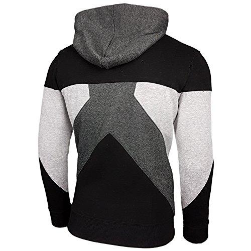Herren Kapuzenpullover Langarm Sweatshirt Pullover Hoodie Sweatjacke Jacke 19042 Anthrazit