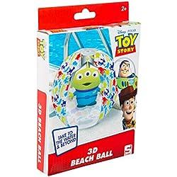 Sambro DTS-3396 - Wasserball mit 3D Effekt, ca. 45 cm, Toy Story Motiv mit Alien, für Kinder ab 2 Jahren, mit Sicherheitsventil, ideal für Pool, Strand und Schwimmbad