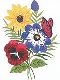 Janlynn Crewel Embroidery Kit, Floral