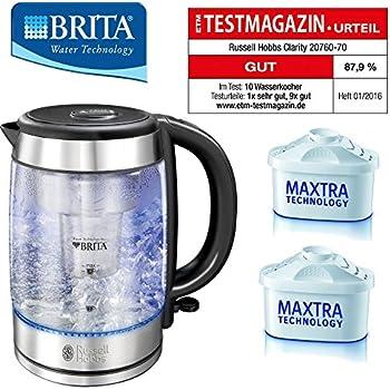 BRITA®WASSERFILTERKOCHER, Wasserkocher, Edelstahl/Glas