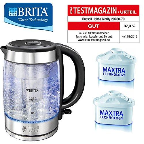 BRITA®WASSERFILTERKOCHER , Wasserkocher, Edelstahl/ Glas INCL.2 Brita Maxtra Kartuschen!!