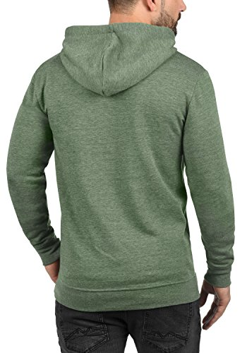 SOLID Olli Zip-Hood Herren Sweatjacke Kapuzen-Jacke Zip-Hoodie aus hochwertiger Baumwollmischung Climb Ivy Melange (8785)
