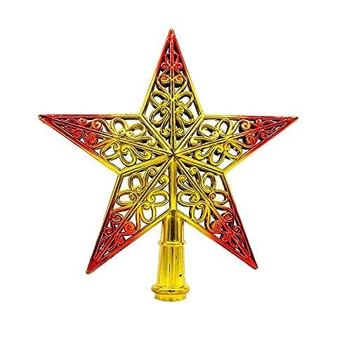 Milopon Weihnachtsbaum Stern Weihnachtsstern Weihnachtsbaumspitze Baumspitze Spitze Stern Baumschmuck Weihnachtsbaum