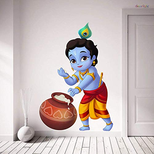 WOW Interiors Krishna Wall Sticker 4K Wall Stickers Wall Decals