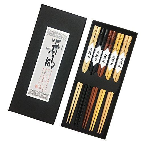 YIHAO Japanese Chopsticks Wood 5...