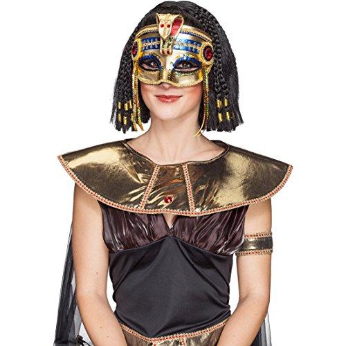 NET TOYS Pharao Maske Ägyptische Schlangenmaske Antike Pharaonenmaske -