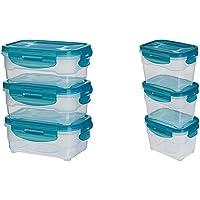 AmazonBasics 3pc Airtight Food Storage Containers Set, 3 x 0.6 Litre + AmazonBasics 3pc Airtight Food Storage Containers Set, 3 x 1.0 Litre