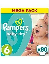 Pampers Baby Dry Größe 6 Extra Large 15+ kg Mega Plus Pack