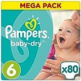 Pampers Baby-Dry Windeln, Gr. 6 (ab 15 kg), Mega Plus, 1er Pack (1 x 80 Stück)