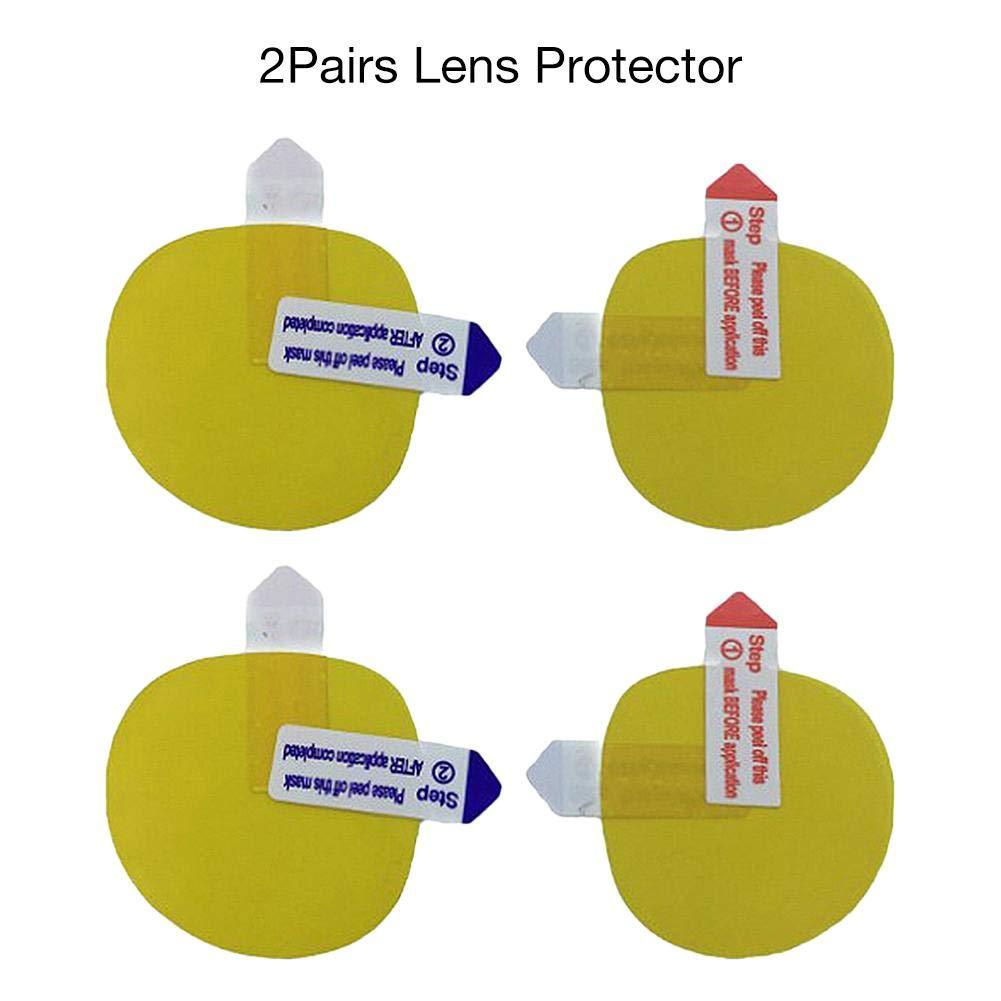 Blessvt Protecteur de lentille à Film Transparent HD de 2 Paires pour la réalité virtuelle Oculus Quest Oculus Rift S