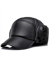 Culer El invierno caliente del cuero de la PU de la gorra de béisbol del  sombrero con orejeras Elmer Gruñón Militar… fd8e3097835