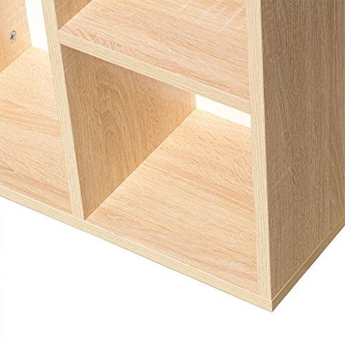 Estantería Estantería Estantería Estantería Tablero de madera maciza Roble Cinco Rejilla Siete Cuadrícula ( Tamaño : 50.2*23.8*80cm )