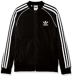 Adidas CF8555 Superstar Track Jacket - Black, 11 - 12 Years