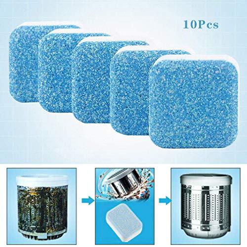 10 Stücke Waschmaschine Tank Reinigung Tabletten Brausetabletten Reiniger Entkalker Tiefenwirksame Reinigung Entferner Deodorant Langlebig