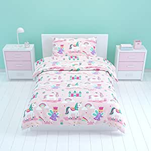 bloomsbury mill parure de lit enfant motif licorne. Black Bedroom Furniture Sets. Home Design Ideas