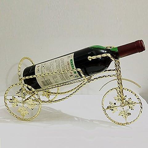 Finitura in acciaio inossidabile vino Rack supporto a pavimento contiene?creativa europea soggiorno ferro rack vino,Twisted tricicli gold