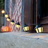10er LED Solar Lichterkette warmweiß mit Laternen Lights4fun