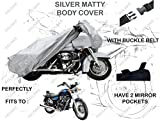 #5: Volga Silver Bike Body Cover With Mirror Pocket For Royal Enfield Thunderbird