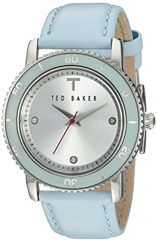 Ted Baker TE2111 Montre Bracelet Femme Cuir Bleu Clair
