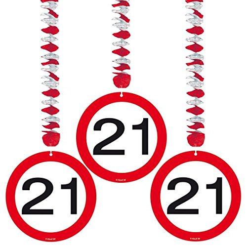Folat 3 Rotorspiralen Zahl 21 Verkehrsschild