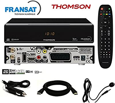 Thomson-Pack receptor Thomson ths805HD + tarjeta FRANSAT + Cable 12V + déport IR incluye cable HDMI-ths805fullpack
