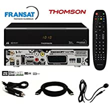 Thomson–Pack receptor Thomson ths805HD + tarjeta FRANSAT + Cable 12V + déport IR incluye cable HDMI–ths805fullpack